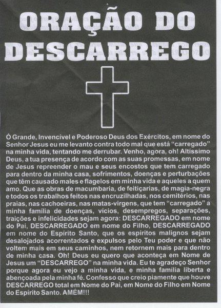 Oração do Descarrego