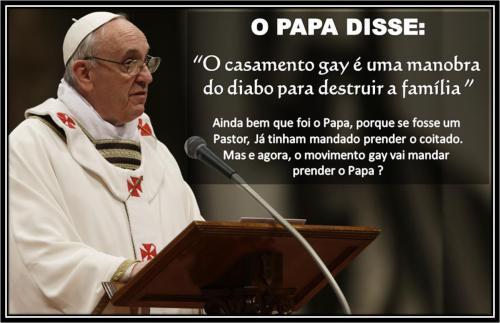 O papa disse